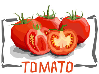 Vector simple illustration of tomatoes.