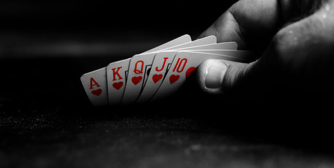 Ace in the sleeve, playing cards