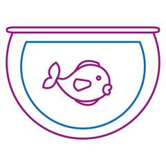 aquarium glass with cute fish vector illustration design