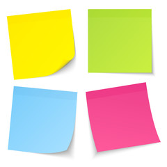 4 Stick Notes Color Mix