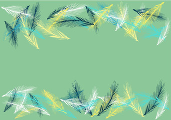 Abstract of bird feather for background wallpaper pattern illustration vector