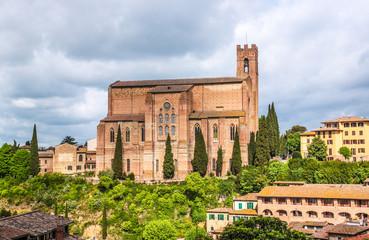 Basilica of San Domenico (Basilica Cateriniana) is basilica church in Siena, Tuscany, Italy