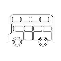 london double decker bus public transport vector illustration