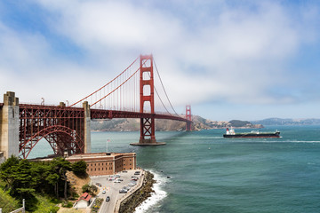The Golden Gate Bridge, from Fort Point, San Francisco, California.