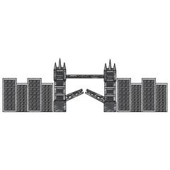 london bridge building urban city landmark vector illustration
