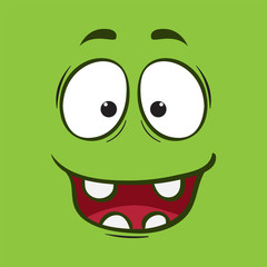 background face cute monster cartoon illustration