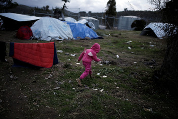 The Wider Image: The Greek island holding back a human tide