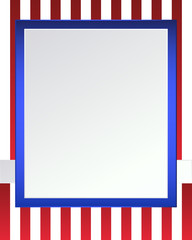 Blue and red USA  and stripes page border