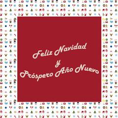 Marco de Feliz Navidad y Próspero Año Nuevo