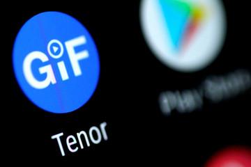 Illustration photo of the Tenor GIF app