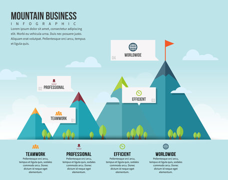 Mountain Business Infographic