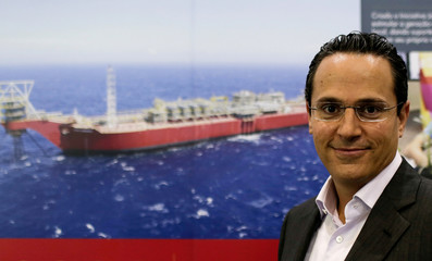 Sawan, Executive Vice President for Shell's deepwater division, poses for a picture before an interview for Reuters during an oil conference in Rio de Janeiro
