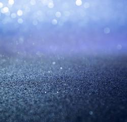 blue glitter lights christmas background. defocused