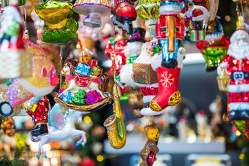 Christmas decorations on the market in Berlin, Germany.