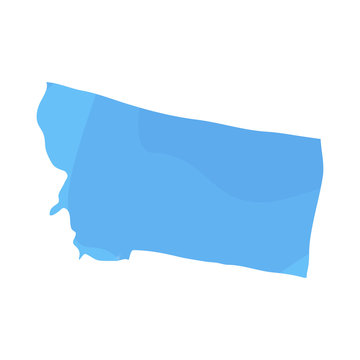 Political map of the state of Montana