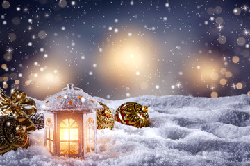 christmas background of desk and space for your decoration