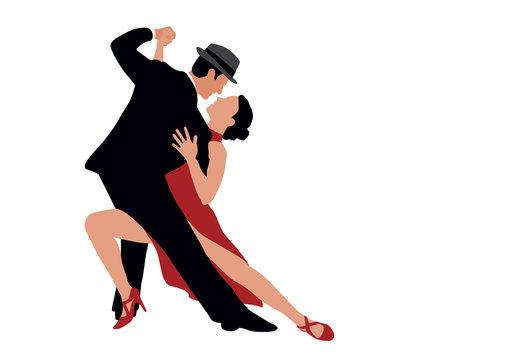 danse - tango - danser - danseurs - couple - danseuse - danseur - partenaire - silhouette