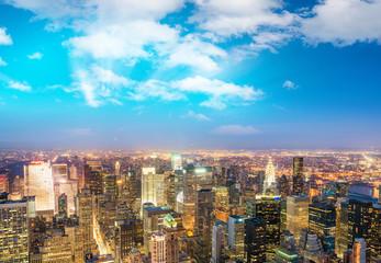 New York City lights at night