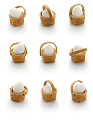 financial concept, diversification,don't put all your eggs in one basket. american popular proverbs and sayings