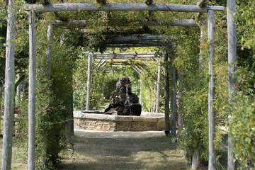 Fontaine dans le potager extraordinaire de la Mothe-Achard