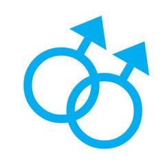Gender symbol, two male relationship