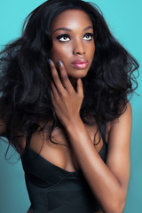 African Woman With Beautiful Hair