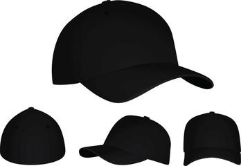 Black baseball cap. vector illustration Fototapete
