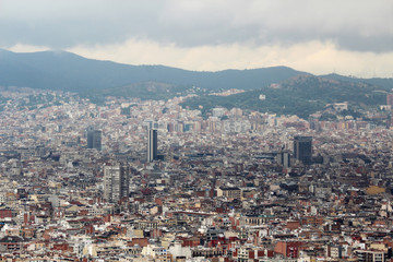 View of Barcelona from Montjuic fort