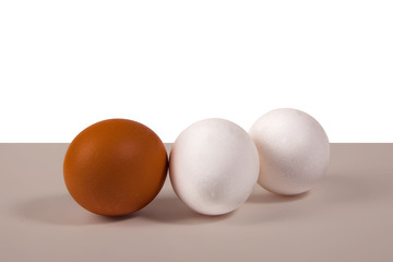 three eggs, still life