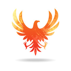 Fire eagle logo vector