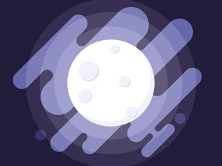 Full moon vector illustration