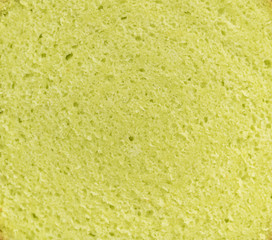 Yellow sponge cake bread background pattern.