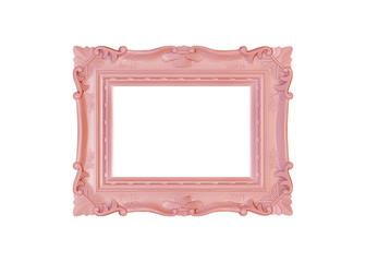 Bilderrahmen pink auf Hintergrund weiss