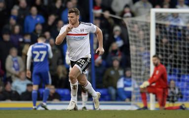 Fulham's Chris Martin celebrates scoring their first goal