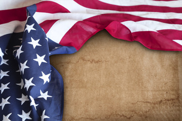 American flag on paper