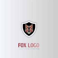 Shield logo,fox vector icon