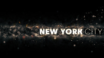 New York City Logo - Creative Illustration - Sparks at Night
