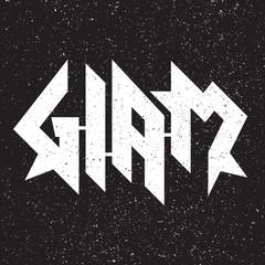 Glam Metal Grunge Emblem/Label