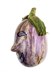 Eggplant Graffiti Face