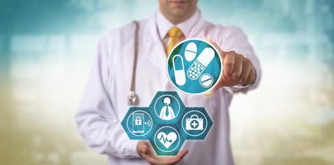 Doctor Offering Telemedicine Prescription Update