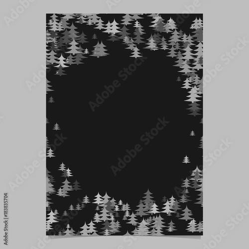 modern random holiday pine tree presentation template - blank, Presentation templates