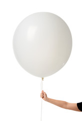 Image of huge 36 or 48 Inch Giant Latex Balloon with woman hand