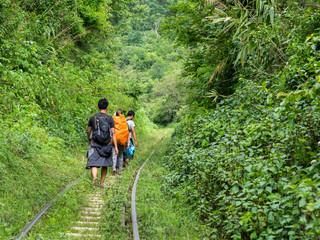 Trekking through the Shan Mountains