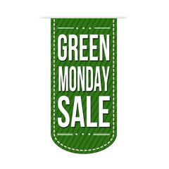 Green monday sale banner design