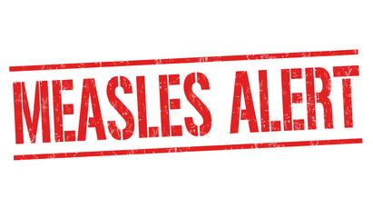 Measles alert grunge rubber stamp