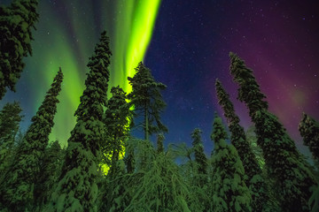 Northern lights image taken in Finish Lapland