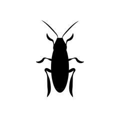 cockroach a beetle contour. vector