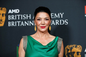 Actor Shohreh Aghdashloo poses at the AMD British Academy Britannia Awards in Beverly Hills