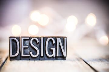 Design Concept Vintage Letterpress Type Theme