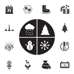 set baby Christmas stickers icon. Set of elements Christmas Holiday or New Year icons. Winter time premium quality graphic design collection icons for websites, web design